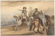 Piotr Michałowski: Napoleon wydający rozkazy, 1835. Akwarela na papierze. Muzeum Narodowe w Krakowie.