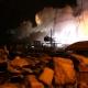 Stalowa Wola: Pożar na osiedlu Piaski. W budynku były butle z acetylenem i wisiał granat