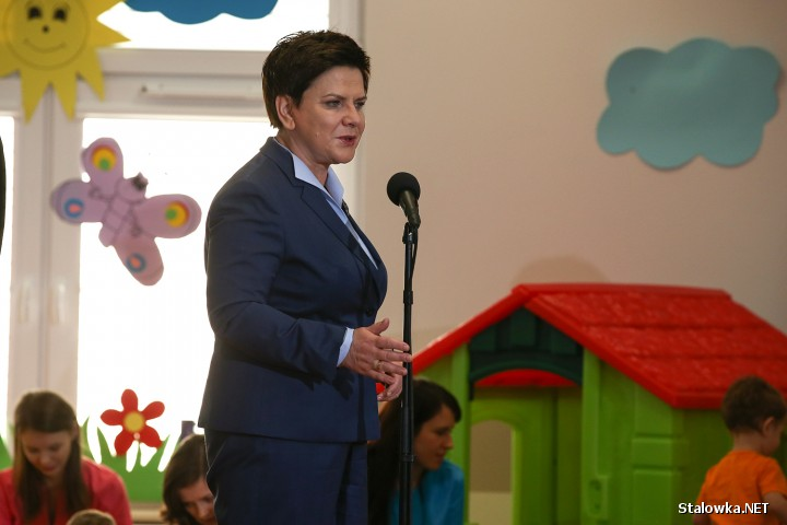 Otwarcie żłobka w Stalowej Woli z udziałem premier RP Beaty Szydło.