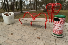 Kącik Zakochanych w Parku Miejskim