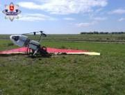 Na miejscu zdarzenia pracowali policjanci, prokurator oraz komisja do spraw badania wypadków lotniczych.