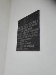 Tablica została zainstalowana w 1984 roku.