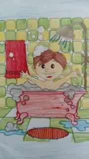 Jedna z prac konkursowych narysowana przez ucznia z PSP w Zaklikowie.