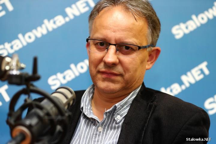 Bogusław Kwieciński, fotograf i właściciel zakładu fotograficznego w Stalowej Woli.
