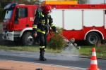 Gdyby nie reakcja kierowcy ciężarówki, zdarzenie mogło mieć tragiczny skutek.