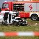 Stalowa Wola: Zderzenie samochodu dostawczego z ciężarówką. 27-latek w ciężkim stanie