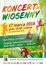Jak co roku zespoły taneczne Miejskiego Domu Kultury: La Volta i Volta przywitają Wiosnę przywitają swoim własnym koncertem.