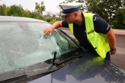 Na miejsce przyjechał patrol drogówki ze stalowowolskiej prewencji. Zastano tam jedynie samochód osobowy z rozbitą szybą i jego kierowcę. Jak się okazało poszkodowany rowerzysta zbiegł z miejsca wypadku.