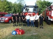 9 czerwca br. na terenie jednostki OSP Stany odbyło się oficjalne przekazanie sprzętu dla jednostek Ochotniczej Straży Pożarnej działających na terenie Gminy Bojanów.