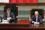 Klub Parlamentarny Prawa i Sprawiedliwości desygnował posła Rafała Webera na sekretarza Sejmu. Podczas posiedzeń zajmuje teraz miejsce przy Marszałku.