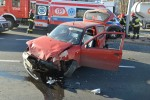 Do zderzenia karetki z samochodem osobowym doszło na Alejach Jana Pawła II w Stalowej Woli.