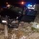 Stalowa Wola: Wypadek w Zdziechowicach. Samochód wjechał w betonowe ogrodzenie