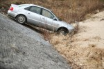 Zdarzenie miało miejscu na ulicy Spacerowej w Stalowej Woli przy progu spiętrzającym. Po dojeździe zastano samochód na zboczu betonowej skarpy z włączonym silnikiem.