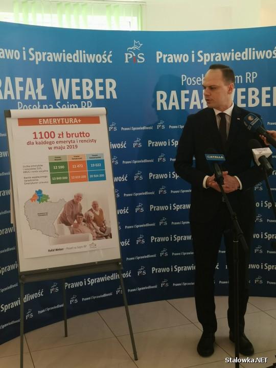 O nowych założeniach programowych piątki Kaczyńskiego oraz budowie obwodnicy Stalowej Woli i Niska, mówił na konferencji prasowej poseł Rafał Weber (PiS).