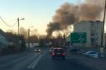 Potężne kłęby dymu uniosiły się nad Rozwadowem.