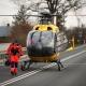 Stalowa Wola: Śmigłowiec LPR zabrał z wypadku rannego motocyklistę