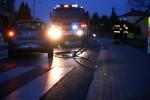 56-letni rowerzysta odmówił badania alkomatem. Został przewieziony do szpitala.