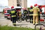 Do kolizji doszło na ulicy Rozwadowskiej w Stalowej Woli. 11-letni rowerzysta uderzył w samochód.