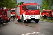 Czwartkowa akcja straży pożarnej w Bojanowie w związku z wprowadzeniem pogotowia przeciwpowodziowego.