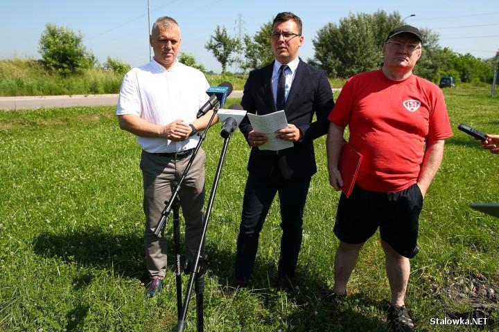Od lewej: Andrzej Szymonik, Damian Marczak, Andrzej Szlęzak.