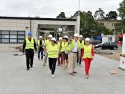 Na trasie objazdu nie mogło zabraknąć Podkarpackiego Centrum Piłki Nożnej, które powstaje przy ul. Hutniczej w Stalowej Woli, a jego oddanie do użytku zaplanowane jest na najbliższe miesiące.