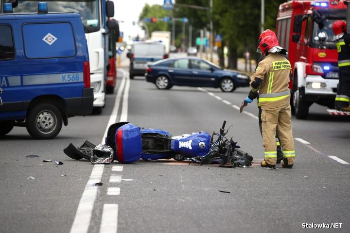 Na ulicy Stanisława Staszica w Stalowej Woli doszło do wypadku z udziałem motocyklisty.