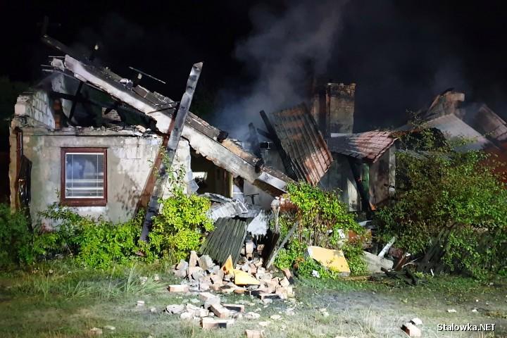 Do pożaru doszło na ulicy Rozwadowskiej w Zaklikowie (powiat stalowowolski).