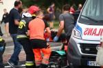 Do wypadku doszło na ulicy Okulickiego. Poszkodowane są dwie rowerzystki.