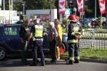 Na Alejach Jana Pawła II przy restauracji KFC doszło do zderzenia dwóch pojazdów.