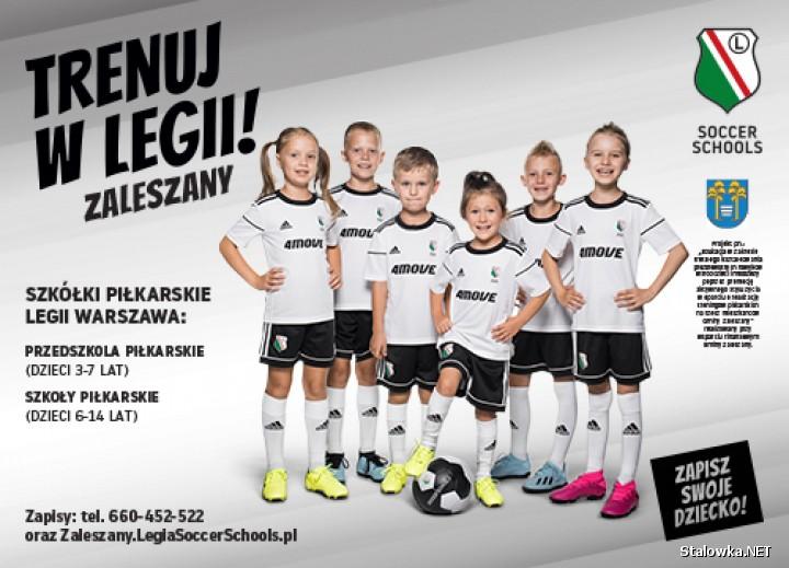 Gmina Zaleszany zaprasza mieszkańców do zapisów swoich dzieci do nowopowstałej Szkoły Piłkarskiej Legii Warszawa! Czekamy zarówno na chłopców jak i dziewczynki w wieku 7-14 lat.