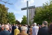 Ponad tysiąc osób zgromadziło się przy monumentalnym krzyżu.