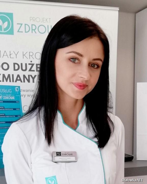 Magdalena Ziemba, dietetyk w gabinecie Projekt Zdrowie w Stalowej Woli.