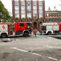 Pożar w historycznym budynku Dyrekcji Naczelnej HSW