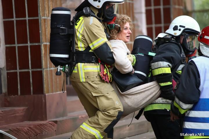 Pożar w danym budynku HSW S.A., gdzie mieści się Urząd Miasta.