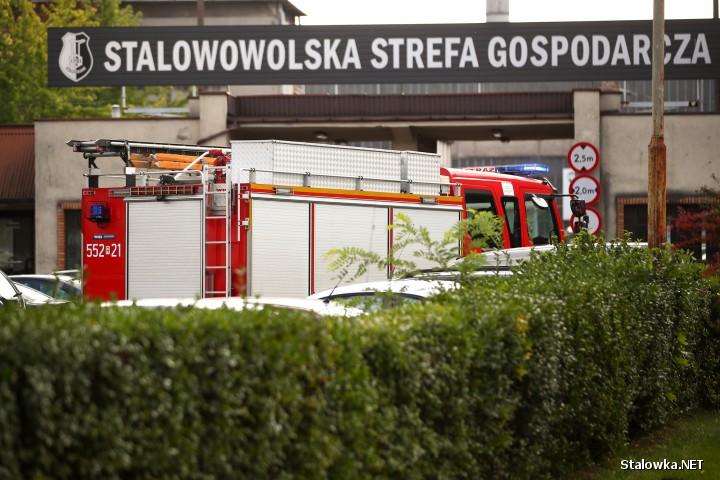 Służby ratunkowe podjęły działania w związku z pożarem budynku dawnej Dyrekcji Naczelnej HSW.