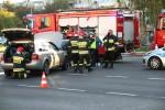 Przy stacji paliw Lotos doszło do kolizji dwóch pojazdów.