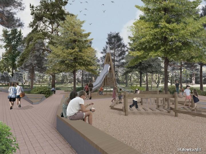 Projekt modernizacji Ogrodu Jordanowskiego w Stalowej Woli.