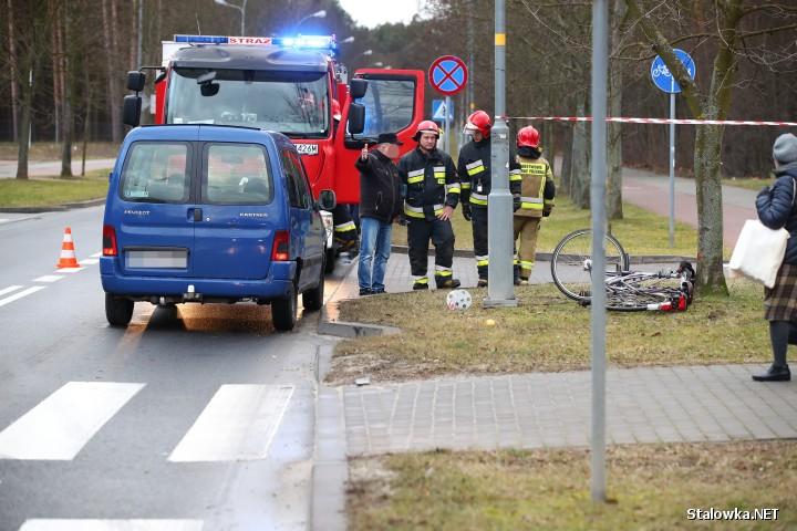 Na ulicy Elizy Orzeszkowej w Stalowej Woli potrącono rowerzystę.