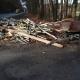 Stalowa Wola: DW-871: przyczepa z drewnem wpadła do rowu