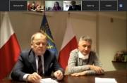 Videokonferencja w sprawie koronawirusa stalowowolskich służb powiatowych.