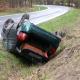 Stalowa Wola: DW-871: dachowanie samochodu na drodze na Tarnobrzeg