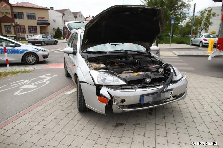 Na ul. Józefa Poniatowskiego doszło do kolizji drogowej w udziałem dwóch pojazdów.