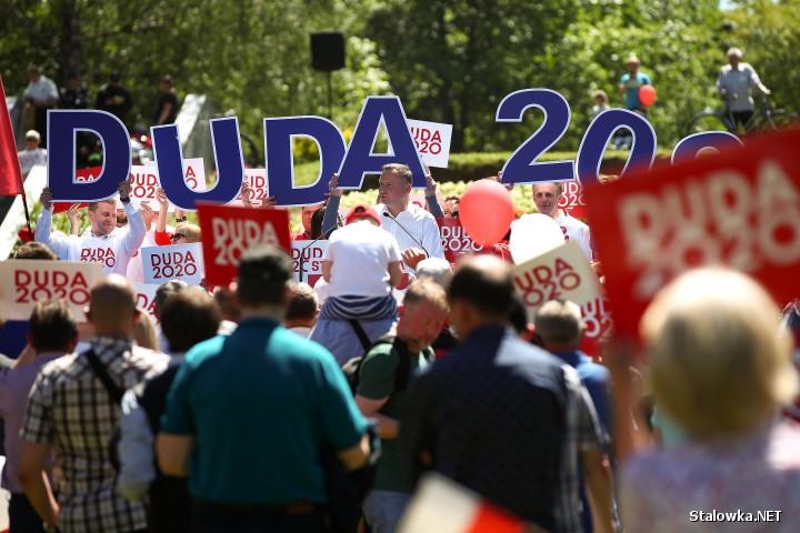 Stalowa Wola: prezydent RP Andrzej Duda w Parku Miejskim.