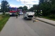 W Majdanie Zbydniowskim doszło do dachowania samochodu.