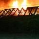 Stalowa Wola: Rozwadów. Duży pożar starego budynku za Sokołem