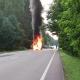 Stalowa Wola: Przyszów. Pożar samochodu na drodze powiatowej