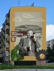 Zwycięski projekt muralu z wizerunkiem Marcelego Siedlanowskiego.