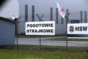 Na ogrodzeniu jednego z zakładów zbrojeniowych w Stalowowolskiej Strefie Gospodarczej zawisł banner i flagi, na znak pogotowia strajkowego.