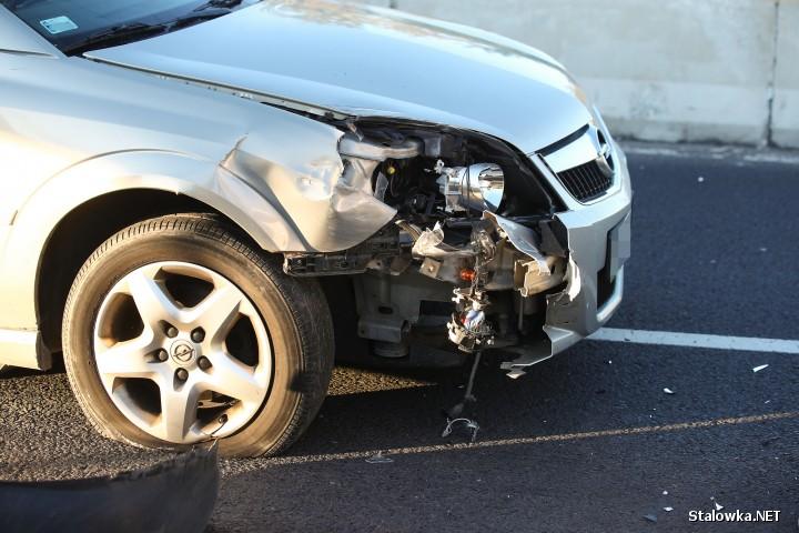 Na trasie podskarpowej doszło do zdarzenia drogowego. Ranny został mężczyzna.