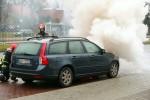 Na Alejach Jana Pawła II w Stalowej Woli doszło do pożaru samochodu osobowego.